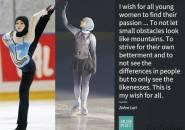 Ragam Berita Olahraga : Zahra Lari, Figur Pemain Skating Berhijab Uni Emirat Arab