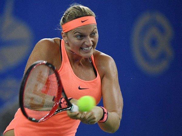 Berita Tenis: Kandaskan Simona Halep, Petra Kvitova Akan Hadapi Dominika Cibulkova Di Final Wuhan Open