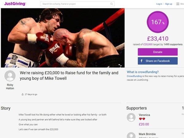 Berita Tinju: Berkat Inisiatif Ricky Hatton, Sumbangan untuk Keluarga Mike Towell Tembus 30 Ribu Pound