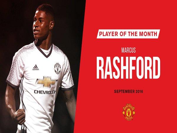 Berita Liga Inggris: Kalahkan Ibrahimovic, Marcus Rashford Jadi Pemain Terbaik Manchester United bulan September 2016