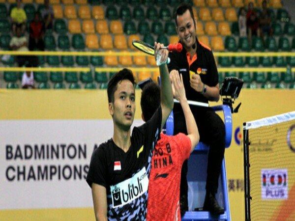 Anthony Kalah, China Raih Angka Pertama di Final Badminton Asia Team Championships 2018
