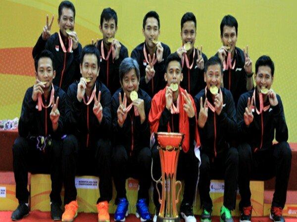 Tim Putra Indonesia Juara Badminton Asia Team Championships 2018