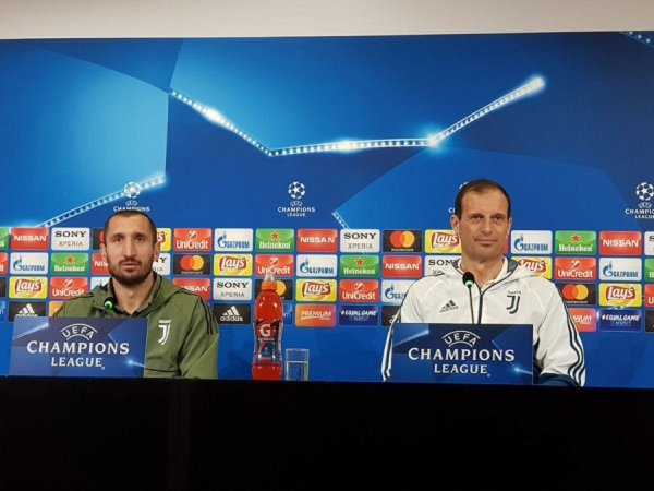 Hadapi Spurs, Chiellini dan Allegri Ingin Pertahankan Rekor Nirbobol Juventus