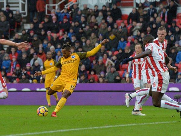 Jose Izquierdo Puas dengan Golnya ke Gawang Stoke