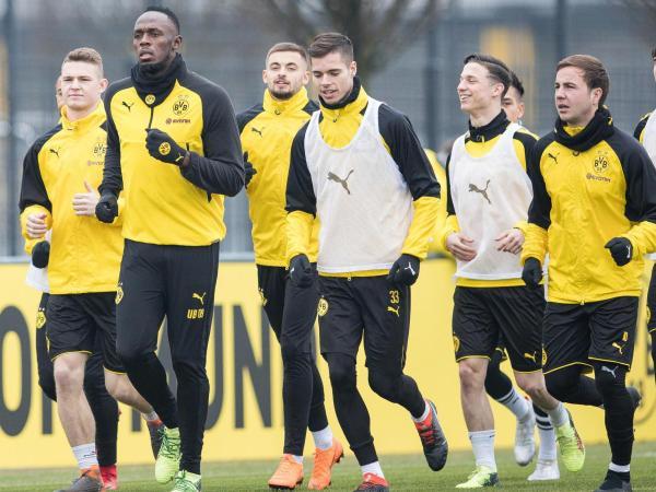 Michy Bashuayi Tak Ingin Usain Bolt Merebut Tempatnya di Dortmund