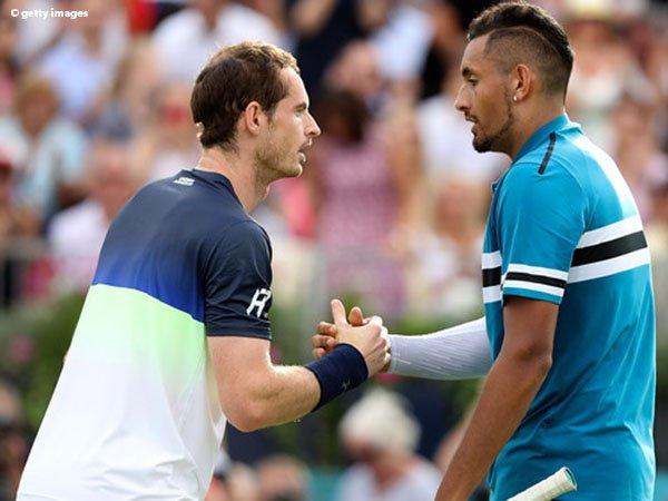 Setelah 342 Hari, Andy Murray Kembali Beraksi Dan Membuat Nick Kyrgios Bermain Ekstra Keras
