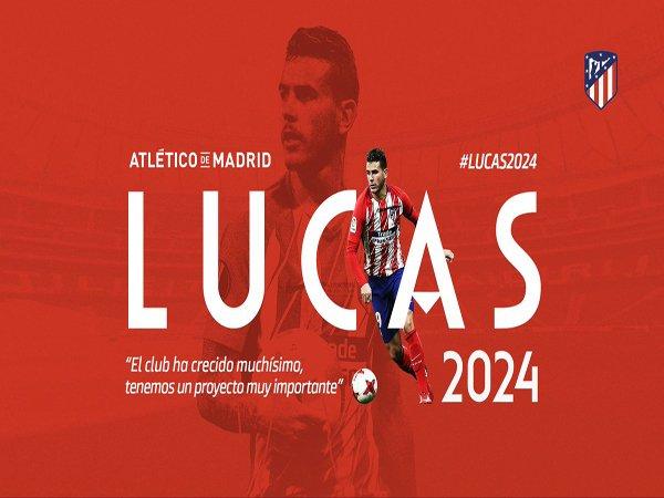 Lucas Komentari Kontrak Barunya dengan Atletico Madrid