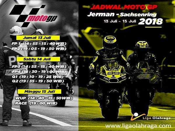 Jadwal Lengkap MotoGP Jerman 2018