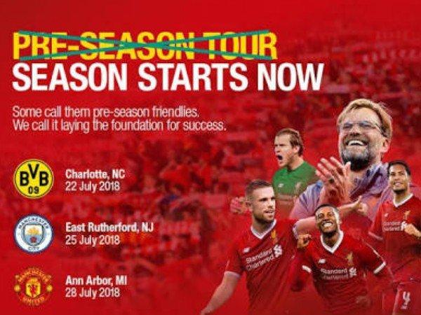 Jadwal Pertandingan Pra Musim Liverpool FC Di Amerika Serikat