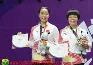 China Raih Medali Emas Ganda Putri dan Ganda Campuran Asian Games 2018