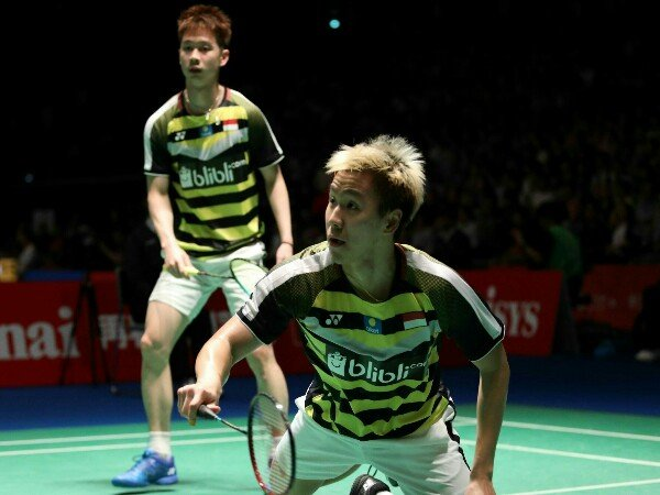 Kevin/Marcus Lolos Semifinal Japan Open 2018