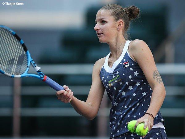 Tampil Penuh Totalitas, Karolina Pliskova Diganjar Satu Tiket Menuju Perempatfinal Di Tianjin