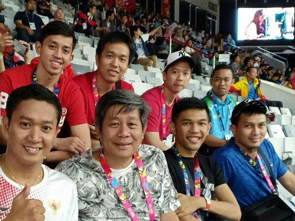 Tim Ganda Putra Dukung Langsung Pebulutangkis di Asian Para Games 2018