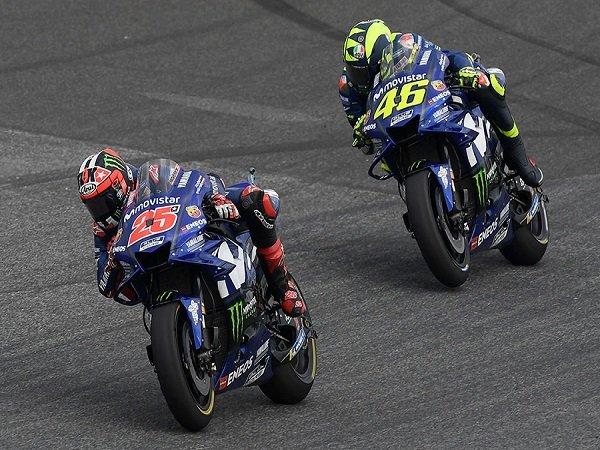 Rossi dan Vinales Sepakat Terkait Kelemahan Motor Yamaha