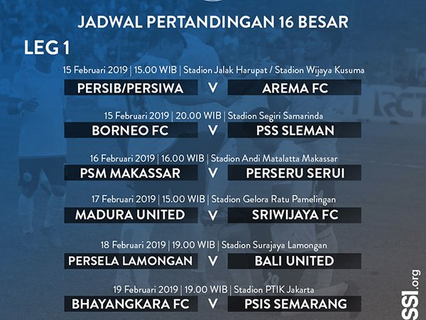 Ini Jadwal Pertandingan Untuk Babak 16 Besar Piala Indonesia | Liga Olahraga
