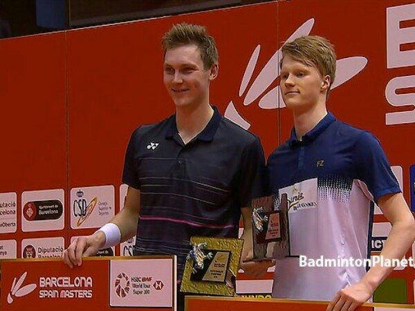 Kandaskan Antonsen, Victor Axelsen Juara Spanyol Masters 2019