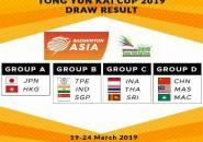 Berikut Undian Grup Kejuaraan Beregu Campuran Asia 2019