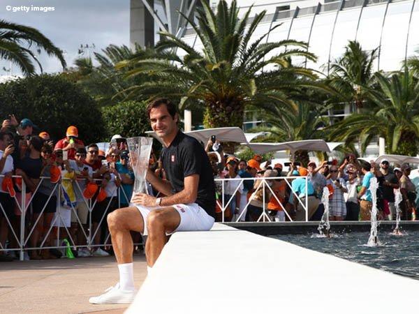 Roger Federer Tak Sangka Juarai Miami Open