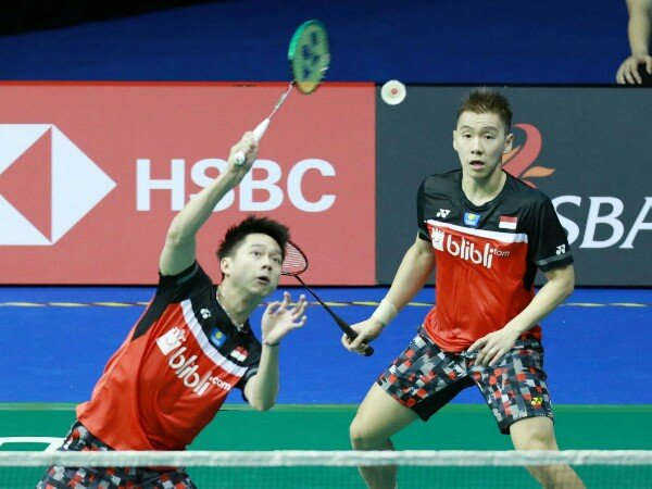 Kevin/Marcus Atasi Perlawanan Berry/Hardi Di Babak Pertama Singapore Open 2019