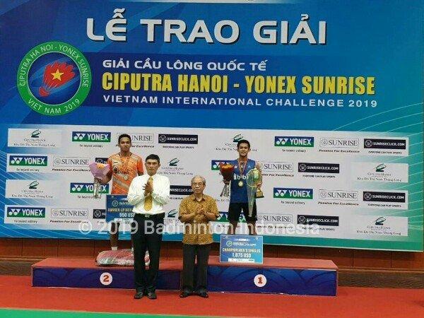 Indonesia Borong Tiga Gelar dari Vietnam International Challenge 2019