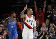 Damian Lillard Bawa Blazers Atasi Perlawanan Thunder di Game Pertama