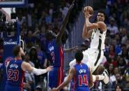 Menang Telak di Game Empat, Bucks Resmi Eliminasi Pistons Dari Babak Playoff