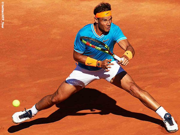 Hanya Kehilangan Satu Game, Rafael Nadal Bantai Jeremy Chardy Di Roma