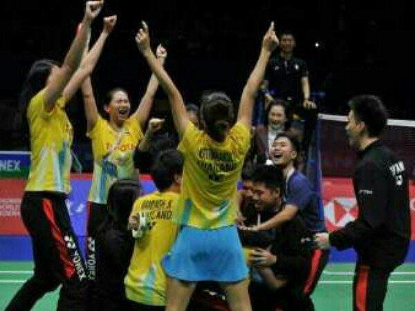 Piala Sudirman 2019: Singkirkan Juara Bertahan, Thailand Lolos Semifinal