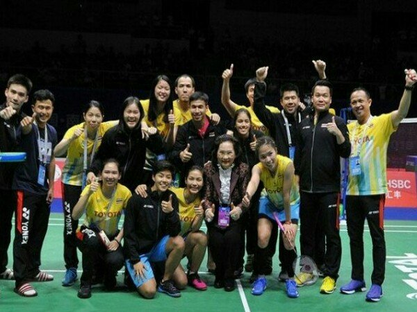 Piala Sudirman 2019: Hadapi China di Semifinal, Thailand Tanpa Tekanan