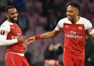 Lacazette Sebut Aubameyang Sosok di balik Kesuksesan Lini Serang Arsenal