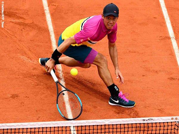 Hasil French Open: Kei Nishikori Bertahan Dari Gempuran Benoit Paire