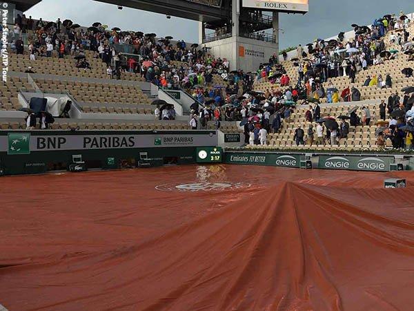 Hujan Paksa Laga Perempatfinal French Open Diundur