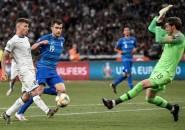 Cetak Gol Lagi untuk Italia, Barella Malah Puji Jorginho dan Verratti