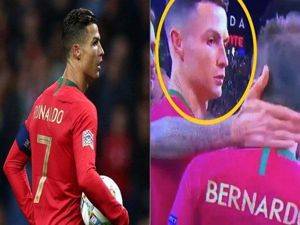 Kalah dari Bernardo Silva, Ronaldo Tak Kuasa Sembunyikan Rasa Kecewa