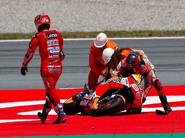 Bos Honda Akui Lorenzo Bersalah Pada Kecelakaan di GP Catalunya