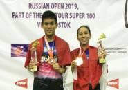 Lewati Tekanan Tuan Rumah, Adnan/Mychelle Juara Rusia Open 2019