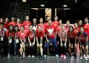 Kejuaraan Dunia 2019: Peringati HUT RI Ke-74, Tim Indonesia Kompak Serba Merah
