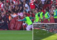Reaksi Elite Ceballos Saat Sambut Gol Lacazette dalam Derby London Utara