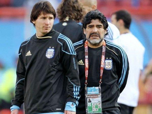 Maradona Klaim Messi Jago Tendangan Bebas Berkat Dirinya