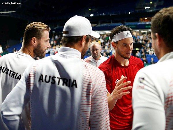 Hasil Davis Cup: Meski Dominic Thiem Kalah, Austria Kalahkan Finlandia
