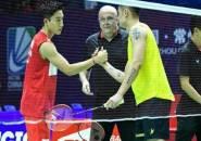 Kento Momota Singkirkan Lin Dan di Babak Pertama China Open 2019