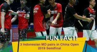 China Open 2019: Tiga Wakil Ganda Putra di Semifinal, Sejarah Tercipta Bagi Indonesia