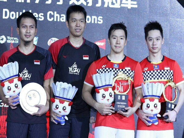 Hasil Final China Open 2019: Indonesia Kuasai Ganda Putra