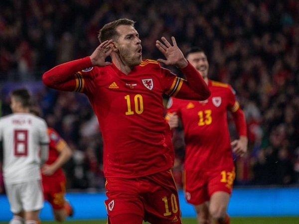 Dwigol Aaron Ramsey Bawa Wales Lolos ke Piala Eropa 2020