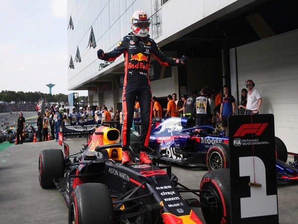 Verstappen Girang Bukan Main Usai Menang di GP Brasil