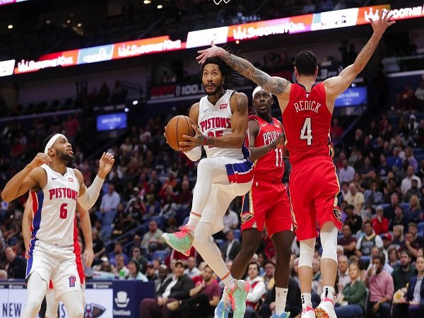 Derrick Rose Bawa Detroit Pistons Hantam New Orleans Pelicans
