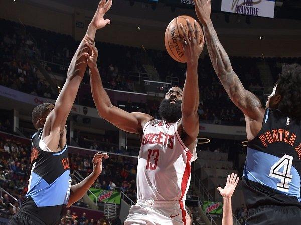 55 Poin James Harden Bawa Rockets Atasi Perlawanan Cavaliers