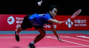 Hadapi Kento Momota di Final, Ginting Sudah Siap