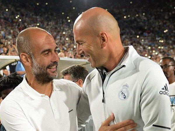 Zidane Anggap Guardiola Sebagai Pelatih Terbaik Dunia