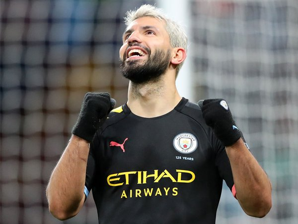 Gembiranya Sergio Aguero Pecahkan Dua Rekor di Premier League